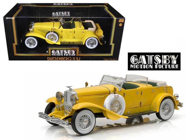 """1934 Duesenberg II SJ """"The Great Gatsby"""" Movie (2013 ) 1/18 Diecast Model Car by Greenlight - Brand new 1:18 scale diecast model car of 1934 Duesenberg II SJ """"The Great Gatsby"""" Movie (2013 ) die cast model car by Greenlight. Limited Edition. Brand new box. Rubber tires. Wheels roll and steer. Has opening hood and doors. Made of diecast with some plastic parts. Detailed interior, exterior. Dimensions approximately L-10, W-4, H-3.5 inches. 1934 Duesenberg II SJ """"The Great Gatsby"""" Movie (2013 )…"""