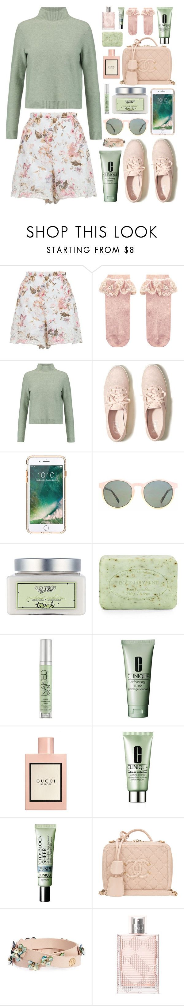 """""""Mint and Rose"""" by lillyluvs ❤ liked on Polyvore featuring Zimmermann, Monsoon, Tory Burch, Hollister Co., Griffin, HOOK LDN, Laura Mercier, Pré de Provence, Urban Decay and Clinique"""