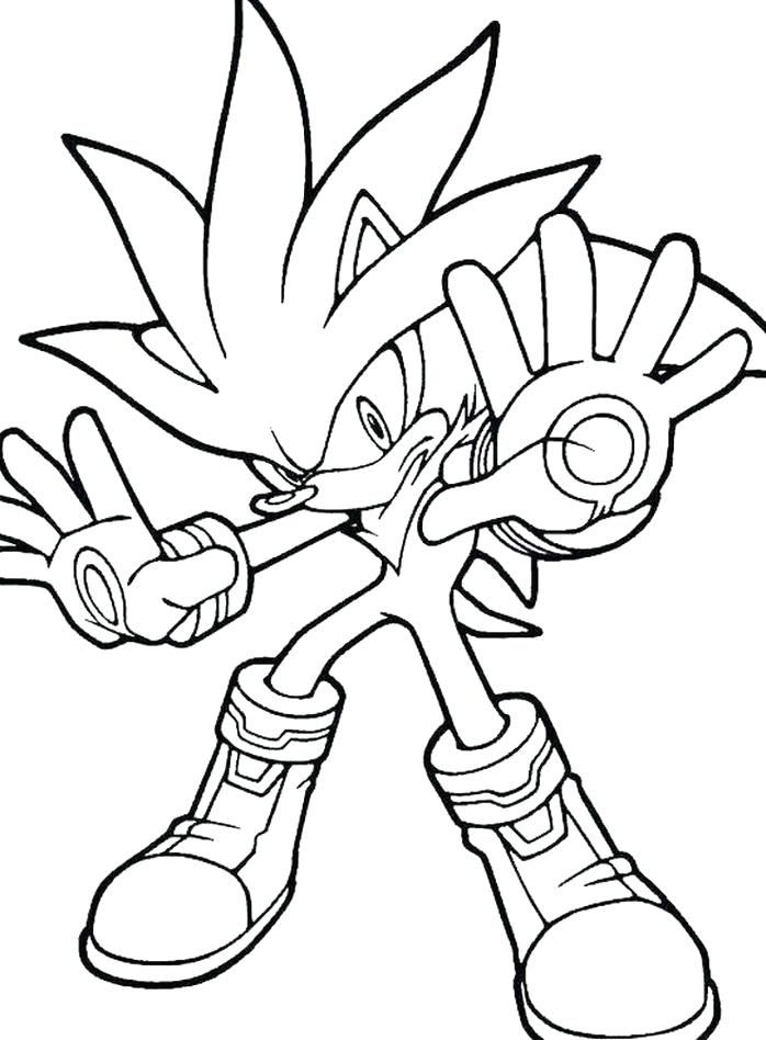 Dark Sonic The Hedgehog Coloring Pages Designs Trend