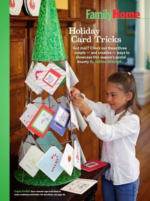 ¿Dónde colgar las postales navideñas? Idea para hacer un árbol de alambre - #árbolDeAlambre, #DecoracionNavideña http://navidad.es/13603/donde-colgar-las-postales-navidenas-idea-para-hacer-un-arbol-de-alambre/