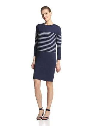 68% OFF SVEE Women's Striped Dress (Navy/White)