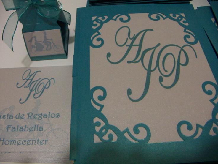 tarjeta matrimonio, caja para trufa