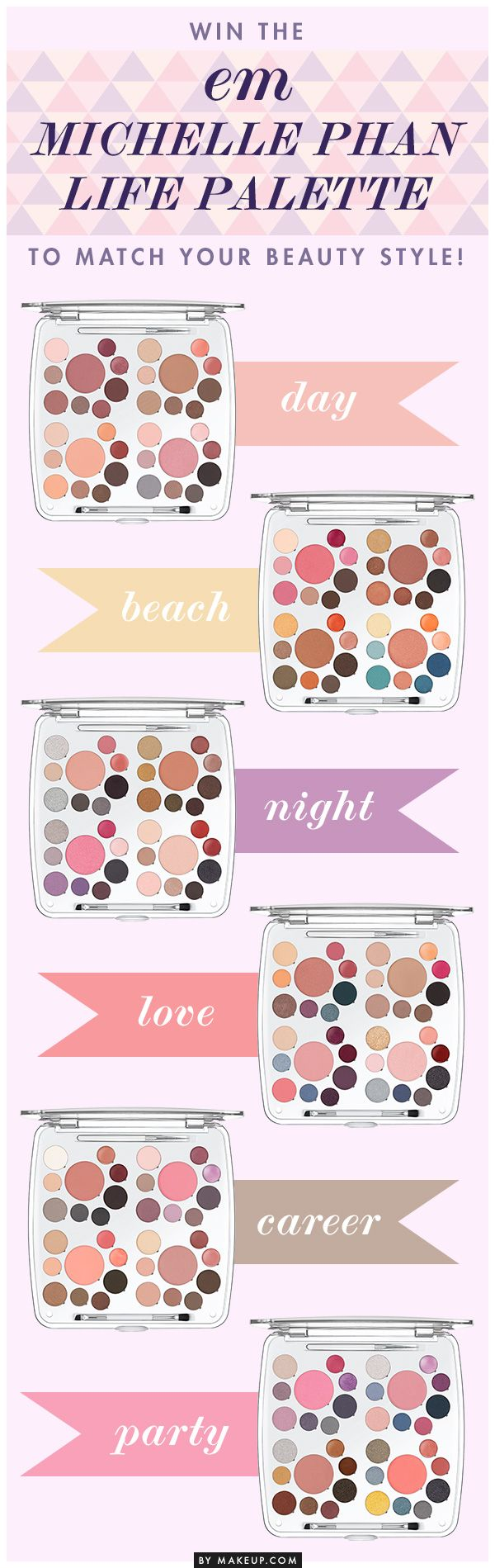 Giveaway: Win the em Michelle Phan Life Palette to Match Your Beauty Style! // click pin to enter!