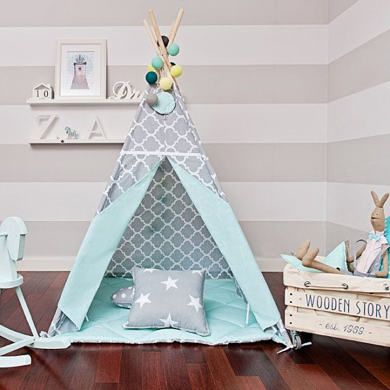 Teepee Kids Play Tent Tipi Moroccan Kingdom by FUNwithMUM on Etsy