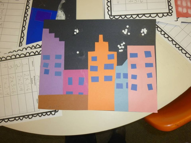 Here's a very cool activity on creating a multiplication city. Students create a cityscape and then must decorate it with a variety of arrays.