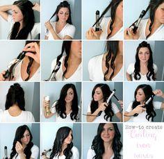 Locken machen und mit Haarlack fixieren