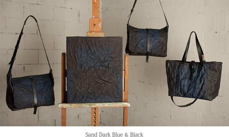 sand dark blus & black