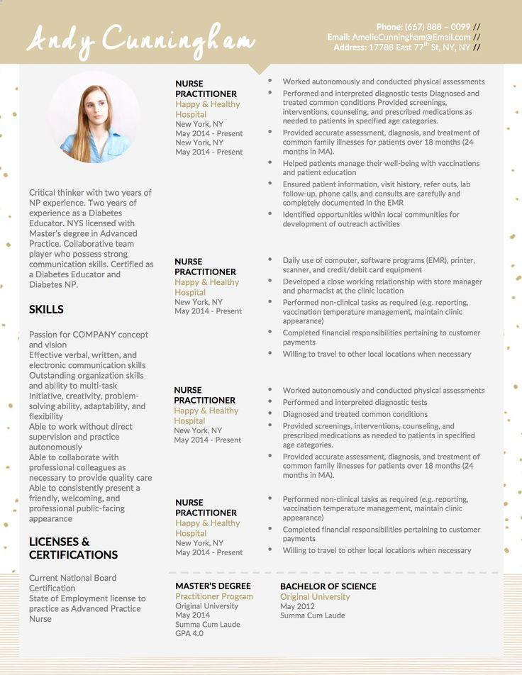 new nurse practitioner resume template