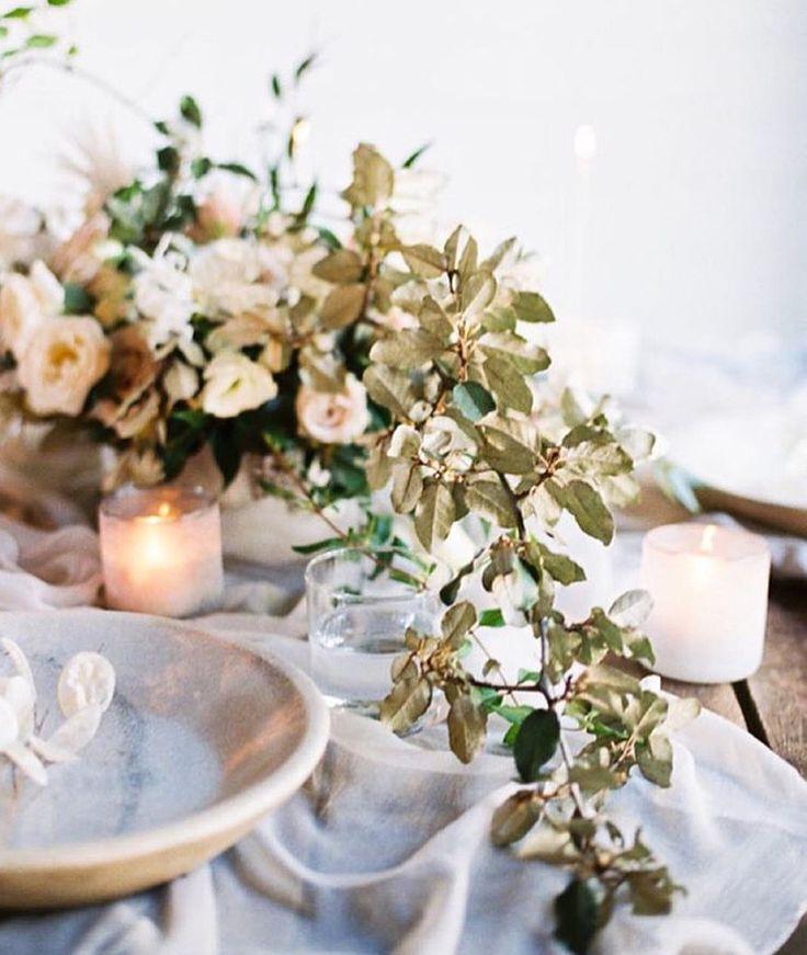light airy vine wedding