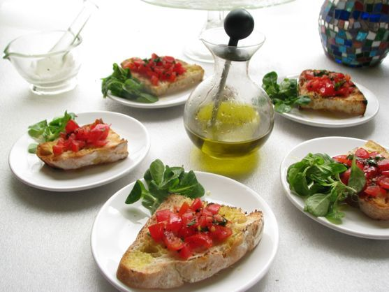Cooking Italy – Bruschetta with Tomatoes from Rome...easy and such a good recipe...