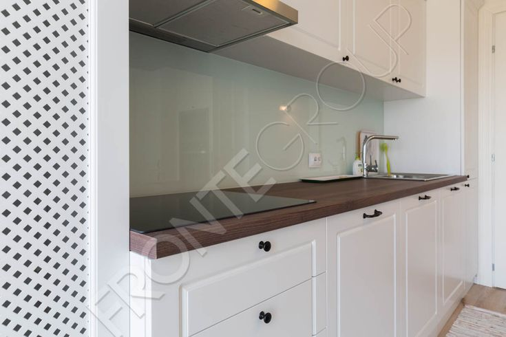All white made to measure kitchen ❤