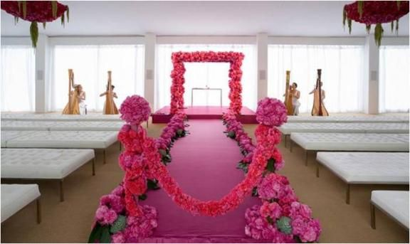 2012 January | WedLoftPink Wedding, Aisle Runners, Wedding Aisle, Pink Aisle, Colin Cowie, Shades Pink, Wedding Flower, Ceremonies Decor, Pink Peonies