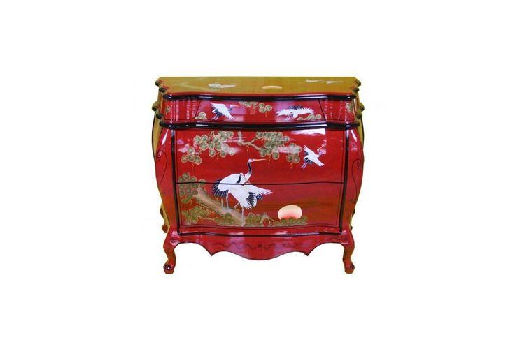 Commode laqu e chinoise meuble chinois laqu meuble for Meuble chinois laque
