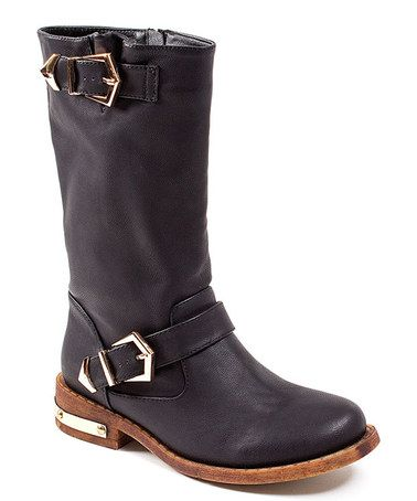 Look what I found on #zulily! Black Double-Buckle Swat Boot by CheckList #zulilyfinds
