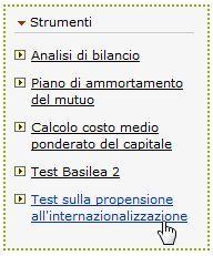 analisiaziendale.it > Demo: strumento Test sulla propensione all'internazionalizzazione