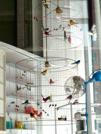 Mathieu Challières | Les Volières | Suspensions oiseaux