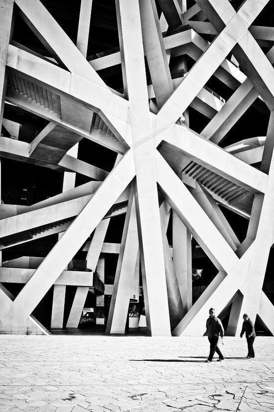 Herzog & de Meuron's bird nest in Beijing.