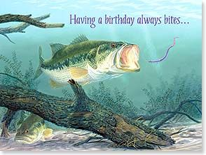 Happy Birthday Bass Fish