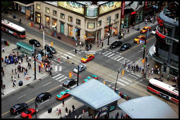 """Yellow Cab, Gypsy Cab, Dollar Cab, holla back"" Yonge & Dundas, Toronto, Ontario, Canada | by Freaktography Photography, via 500px"