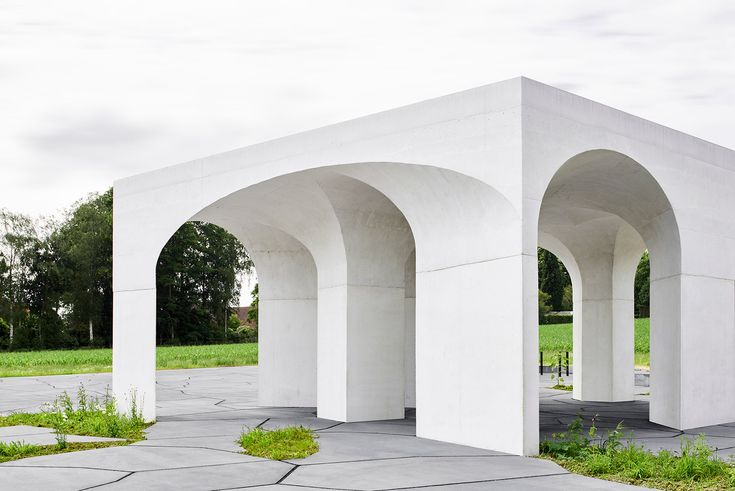 """The pavilion is inspired by classical arch archit…"