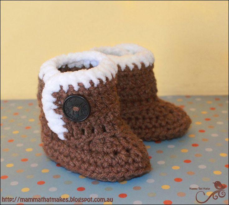 Mamma That Makes: Little UggieBooties - Free Crochet Pattern