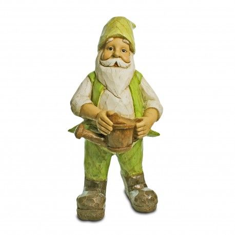 Wilbur The Extra Large Wood Look Garden Gnome With Watering Can Garden  Ornaments U0026 Accessories #