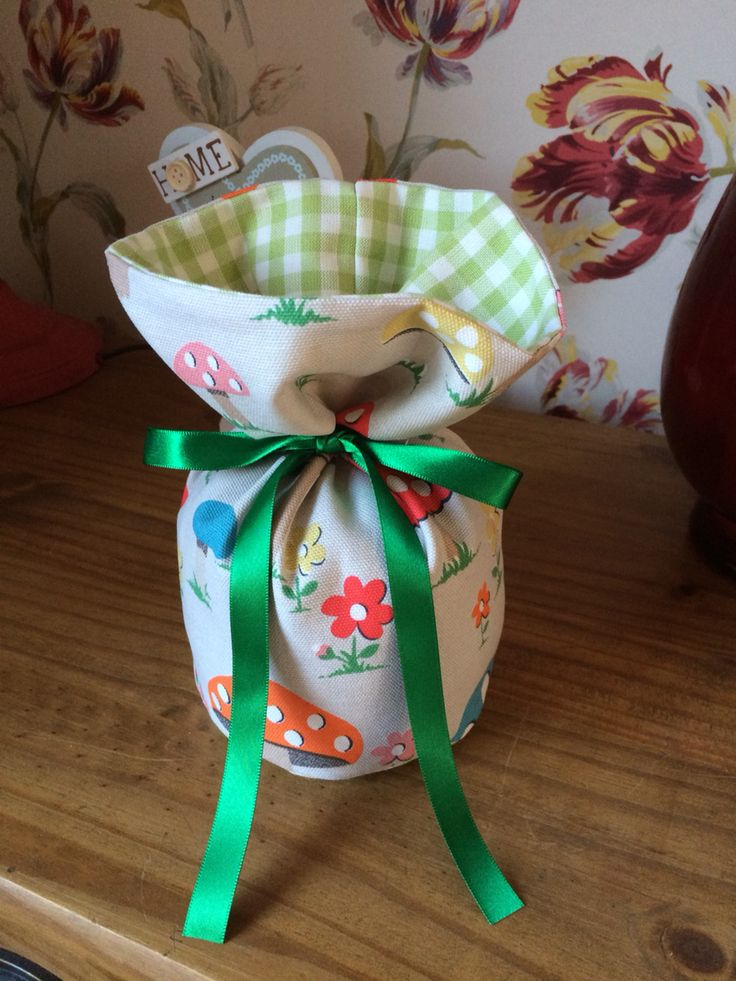 Doorstop that I made from Cath Kidston mushroom fabric.x
