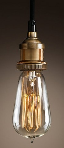 Bare Bulb Filament Pendant / RESTORATION HARDWARE
