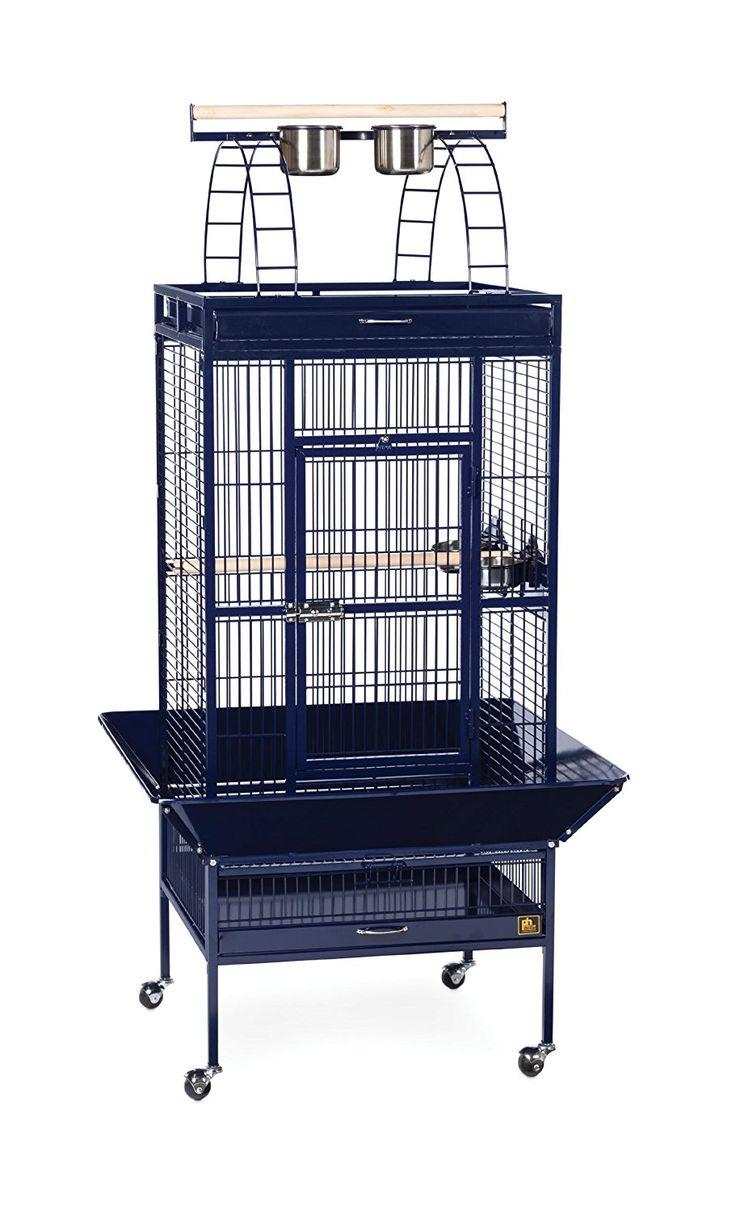 prevue pet products wrought iron select bird cage 3152blue cobalt blue 24 inch by - Beliebt Burokuche Aufbau