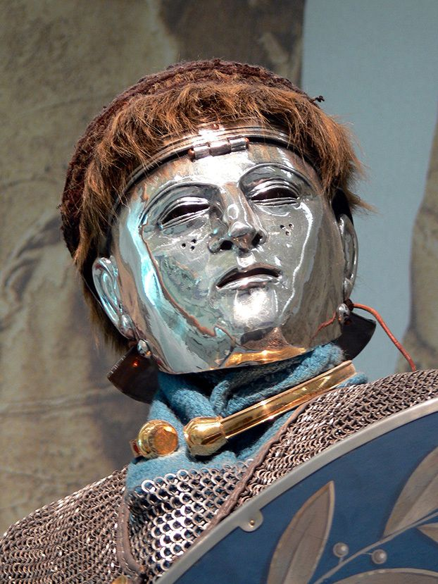A Roman cavalry mask found in the treasure-rich Kops Plateau ...