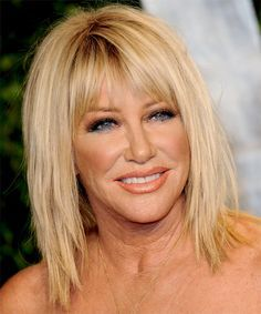Suzanne Somers Hairstyle - Medium Straight Casual - Light Blonde