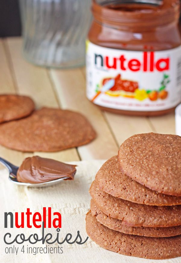 This is a super easy nutella cookies recipe. It requires only 4 ingredients, most of which are in your pantry already!