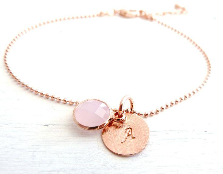 Freundschaftsbänder - WUNSCHBUCHSTABE  Armband rosa   - ein Designerstück von Charlotteville bei DaWanda