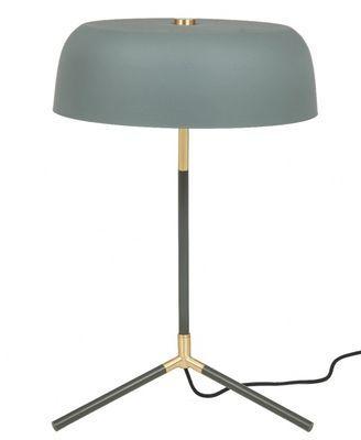 Rhett bordlampe, grågrønn/messing