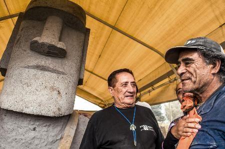 モアイ像、被災地へ チリ寄贈「日本よ元気に」 - 47NEWS(よんななニュース)