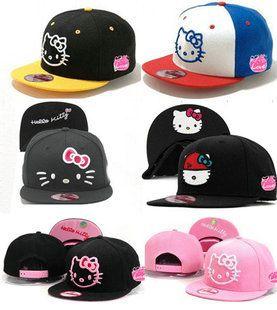 AAAwholesaler : Buy new new 2014 fashion spring summer hello kitty cartoon baseball caps for adult woman snapback hats for women on AAAwhol...