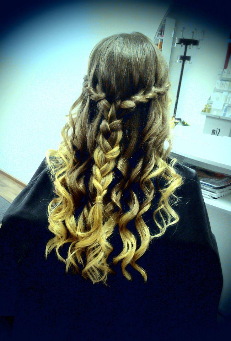 Waterfall-braid for extra long hair by Emmi/Parturi-kampaamo Salon Maria Seinäjoki