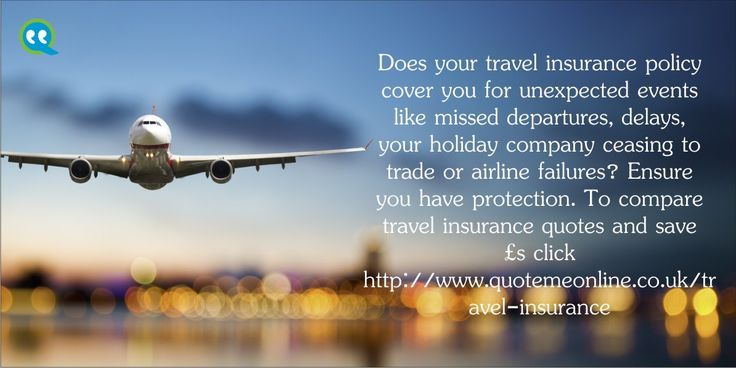 Does your #travelinsurancepolicy cover you for unexpected events like missed departments,delays,your holiday company ceasing to trade or airline failures ? Ensure you have protection. To compare travel insurance quotes and save £s click. http://bit.ly/1nyI3FU