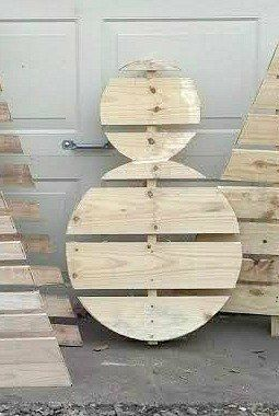 How To Make A Wood Pallet Snowman Holidays Pinterest Christmas Crafts And Decorations