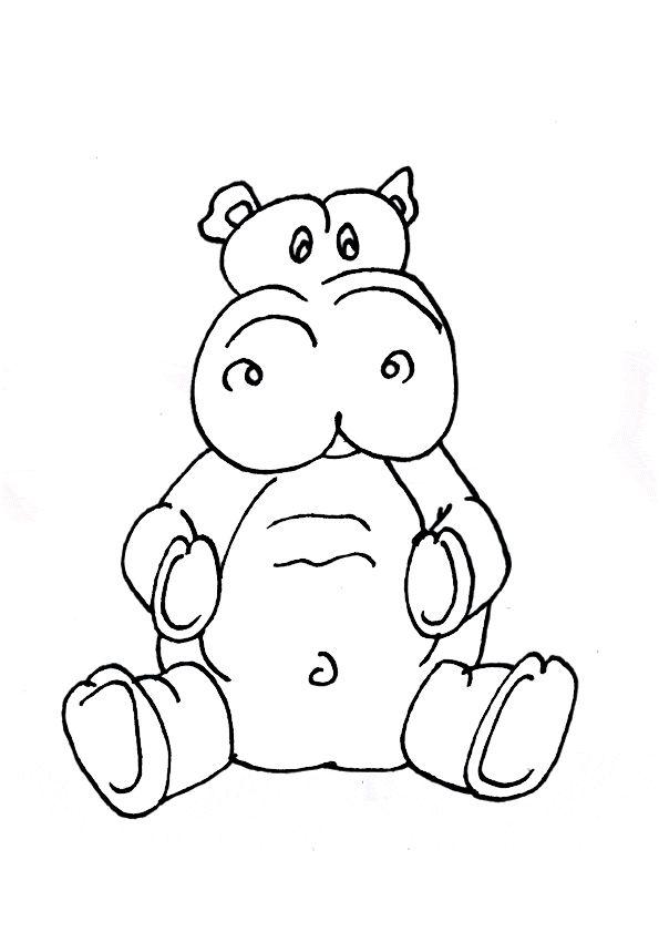 Hippopotame A Colorier Colorier Les Enfants Marnfozine Com