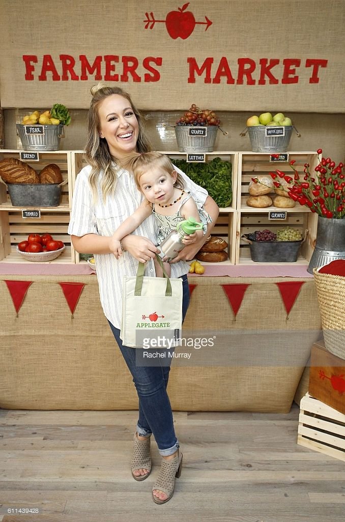 Haylie Duff and daughter Ryan Rosenberg attend Haylie Duff Hosts Applegate's Sandwich Soiree at AU FUDGE on September 29, 2016 in West Hollywood, California.