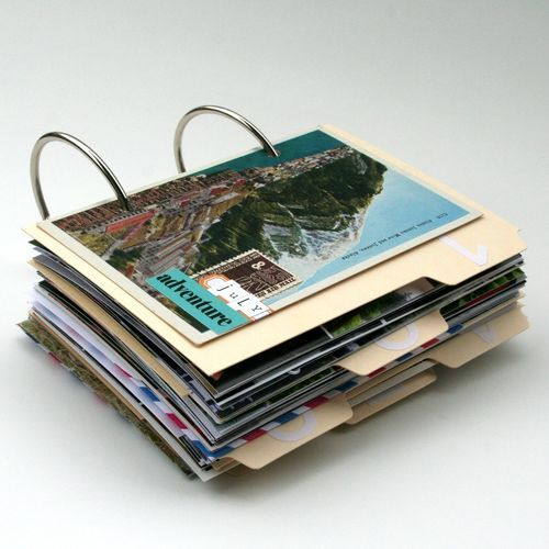 A great way to keep all of the photos and postcards collected on various trips.