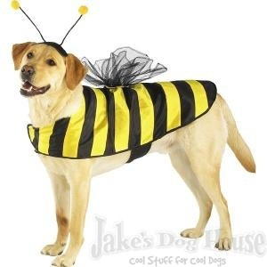 "Halloween Dog Costume Bumble Bee Large Dog Costume Large fits 16""-20""  Make Your Dog the Life Of the Party"