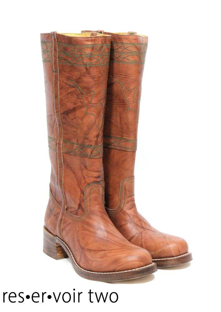 $348 Frye Campus Stitch TALL Horse Riding Leather Detail Boots SUNDANCE CATALOG #Frye #CowboyWestern