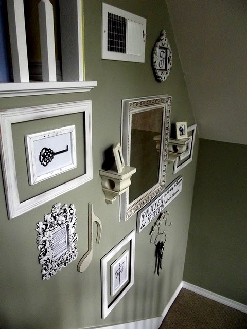 "A little too ""cluttered"" for me , but the key idea is cute ... wonder if I have a copy of our first house key or history of keys that I could frame?"