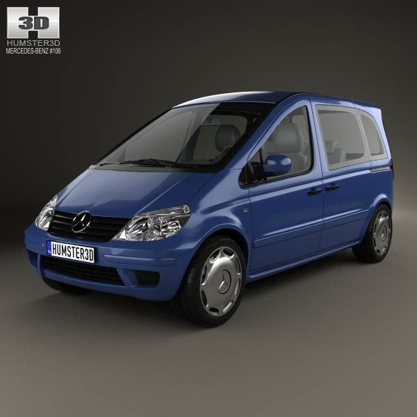 Mercedes-Benz Vaneo 2002 3d model from humster3d.com. Price: $75