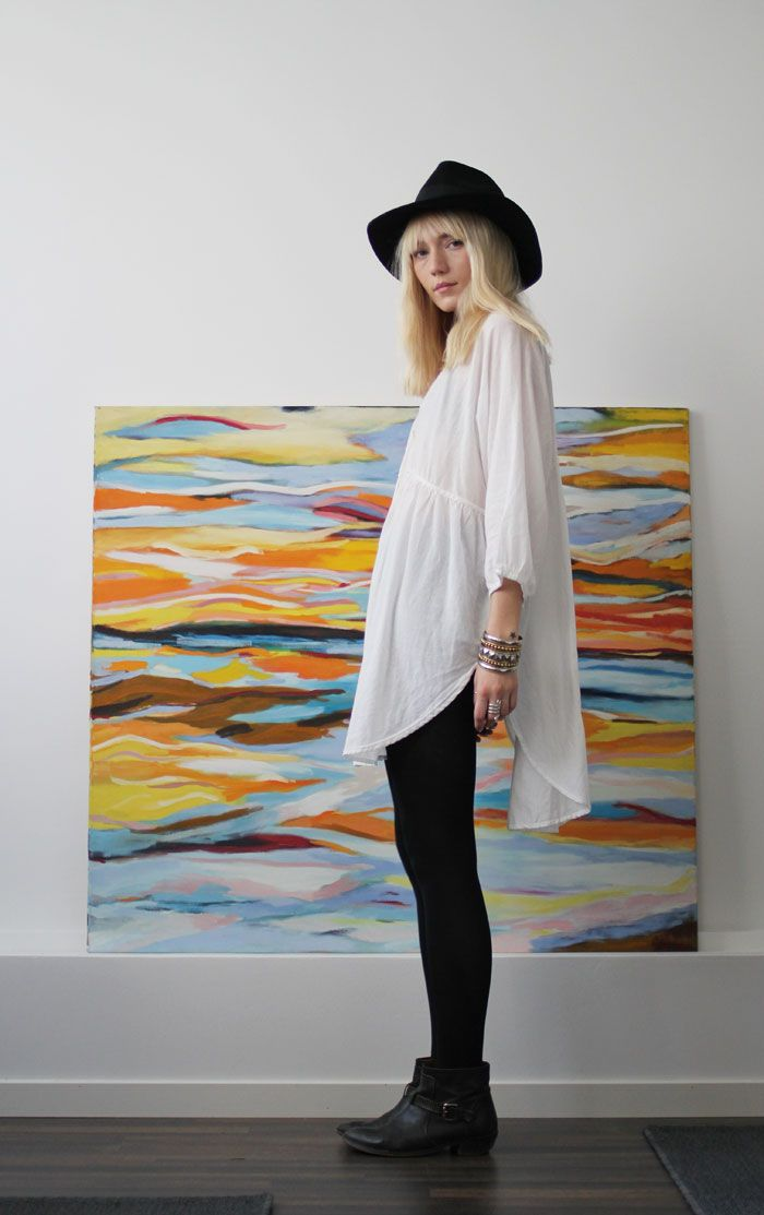Oversized white tunic. My current obsession!
