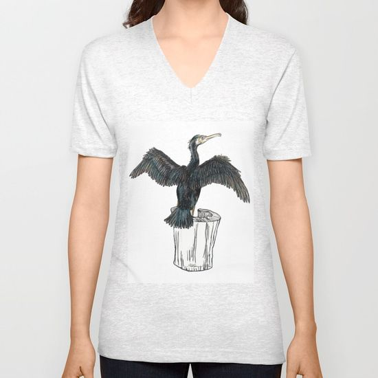 The Great Cormorant Unisex V-Neck