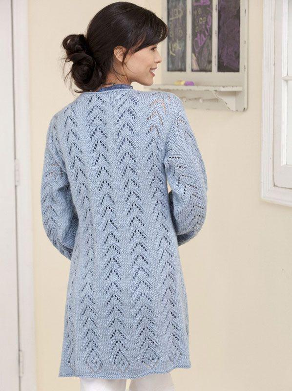 Caron International | Free Project | Long & Lacy Knit Jacket