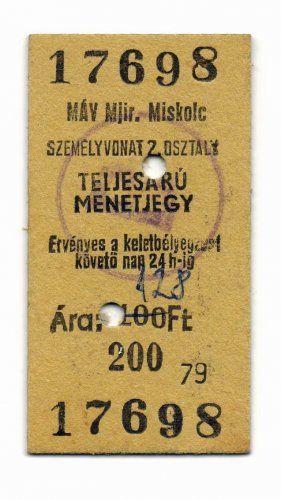 MÁV Menetjegy (80's)